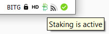 icone de staking actif